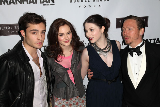 Eric Damon with Gossip Girl cast members