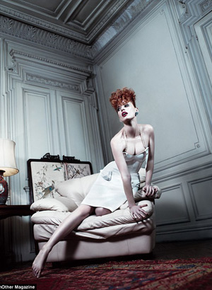 AnOther Magazine - Jessica Chastain by Willy Vanderperre and Olivier Rizzo Spring 2012