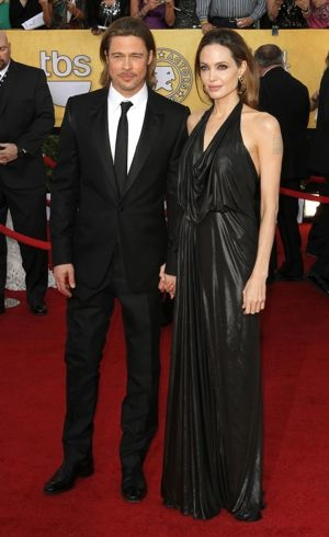 Angelina Jolie and Brad Pitt 18th Annual SAG Awards Los Angeles Jan 2012