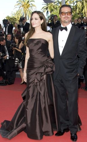 Angelina Jolie and Brad Pitt 2011 Cannes International Film Festival The Tree of Life Premiere May 2011