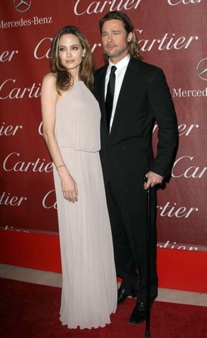 Angelina Jolie and Brad Pitt 23rd Annual Palm Springs International Film Festival Awards Gala Jan 2012