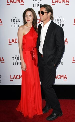 Angelina Jolie and Brad Pitt Los Angeles Premiere of The Tree of Life May 2011