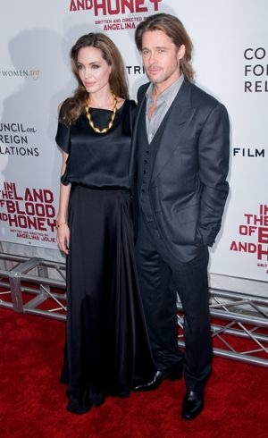 Angelina Jolie and Brad Pitt Premiere of In the Land of Blood and Honey New York City Dec 2011