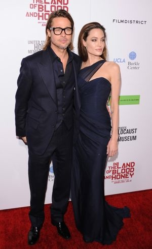 Angelina Jolie and Brad Pitt Premiere of In the Land of Blood and Honey Hollywood