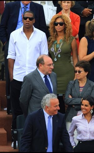 Beyonce and Jay-Z French Open Paris June 2010