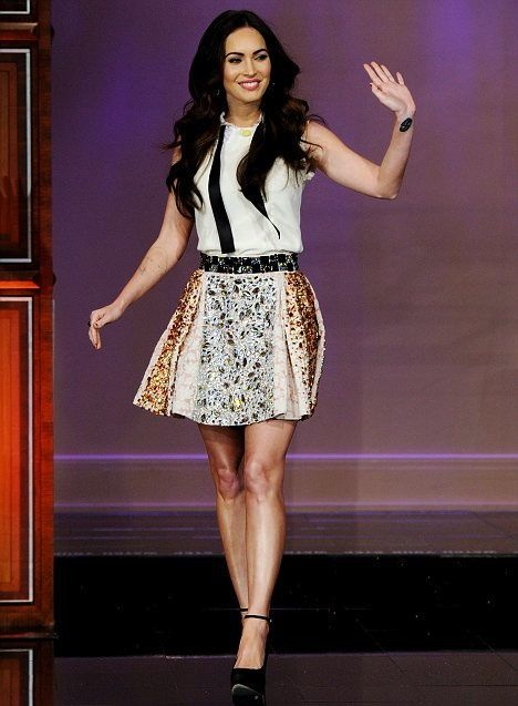 Megan Fox Tonight Show with Jay Leno Burbank resized