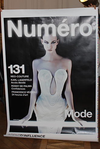 Numero March 2012 cover - Karlie Kloss by Karl Lagerfeld