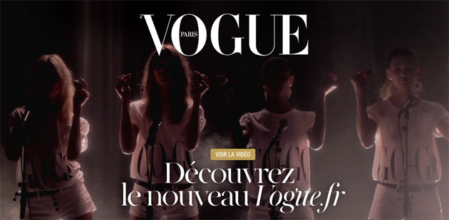 New Paris Vogue Wesbite