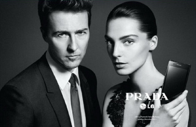 Prada LG ads - Edward Norton and Daria Werbowy