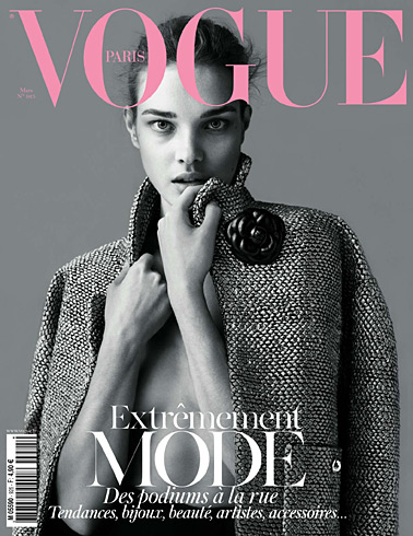 Vogue Paris March 2012 Cover - Natalia Vodianova by Mert & Marcus