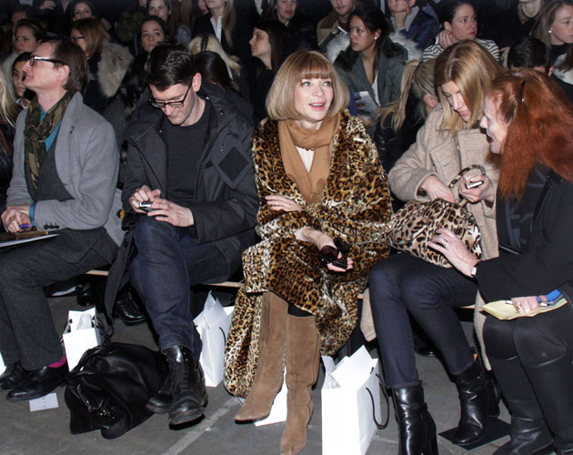 Anna Wintour, front row Alexander Wang FW 2012