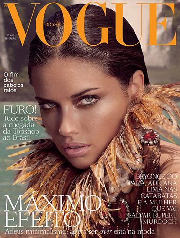 Adriana Lima - Vogue Brazil February 2012 cover