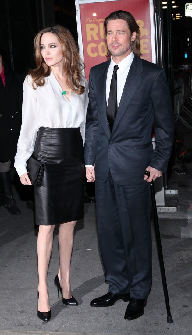 Angelina Jolie and Brad Pitt 77th Annual New York Film Critics Awards Gala