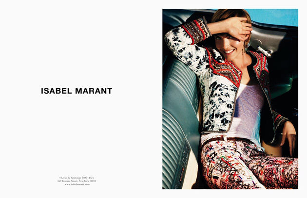 Arizona Muse for Isabel Marant Spring 2012