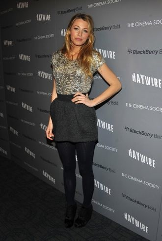 Blake Lively Look Of The Day Conservative With Tights