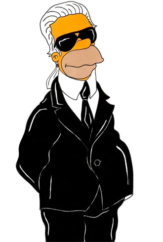 Karl Lagerfeld Simpsons