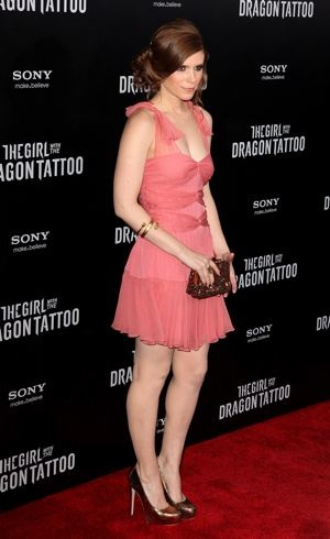 Kate Mara New York premiere of The Girl With the Dragon Tattoo Dec 2011