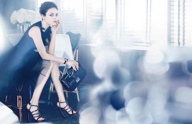 Mila Kunis for Miss Dior handbags Spring 2012