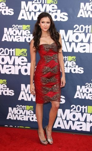 Nina Dobrev 2011 MTV Movie Awards Los Angeles June 2011