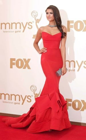 Nina Dobrev 63rd Primetime Emmy Awards Los Angeles Sept 2011