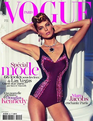 Vogue Paris Feb 2012 Daria Werbowy by Inez & Vinoodh