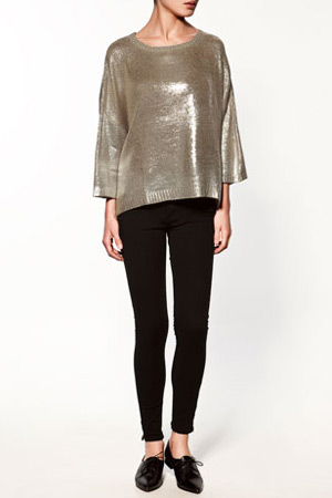 Zara metallic blouse - forum shopaholics