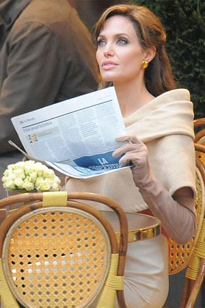 Angelina Jolie reading