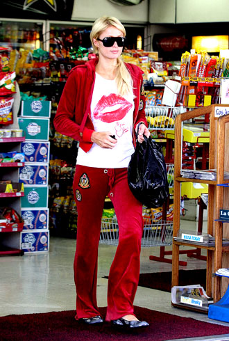 Paris Hilton at gas station