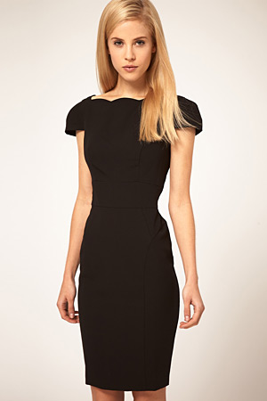 forum buys - asos black dress