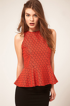 forum buys - Asos orange peplum top