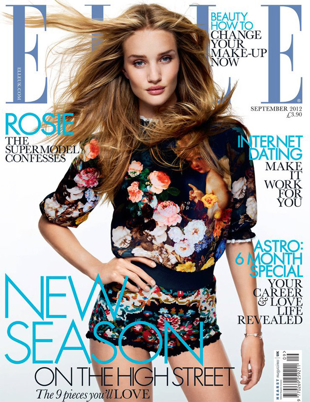 Elle UK September 2012 - Rosie Huntington-Whiteley