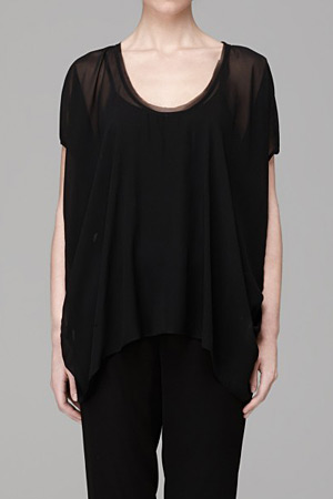 forum buys - Helmut Lang sheer black top
