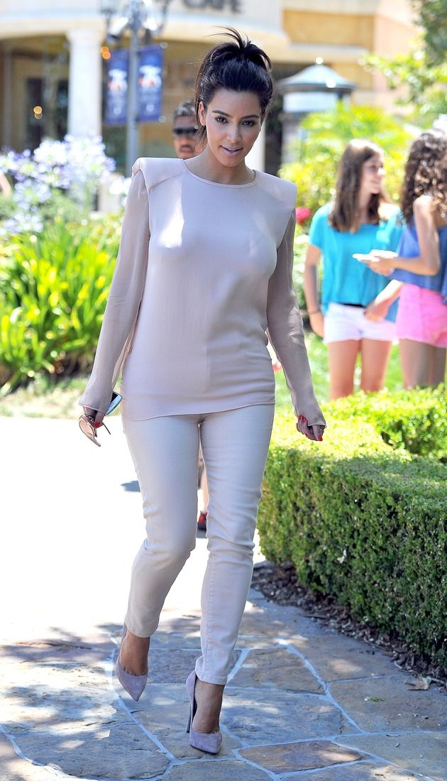 Kim Kardashian goes to Calabasas Baby Boutique with her family and boyfriend Los Angeles