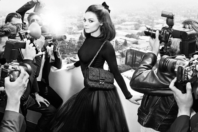 Miss Dior Handbags - Mila Kunis by Mario Sorrenti and Carine Roitfeld