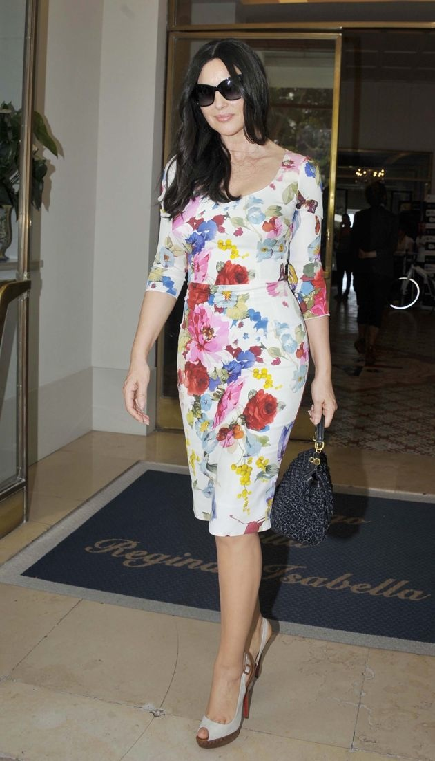 Monica Bellucci arrives at her hotel Ischia Island Italy