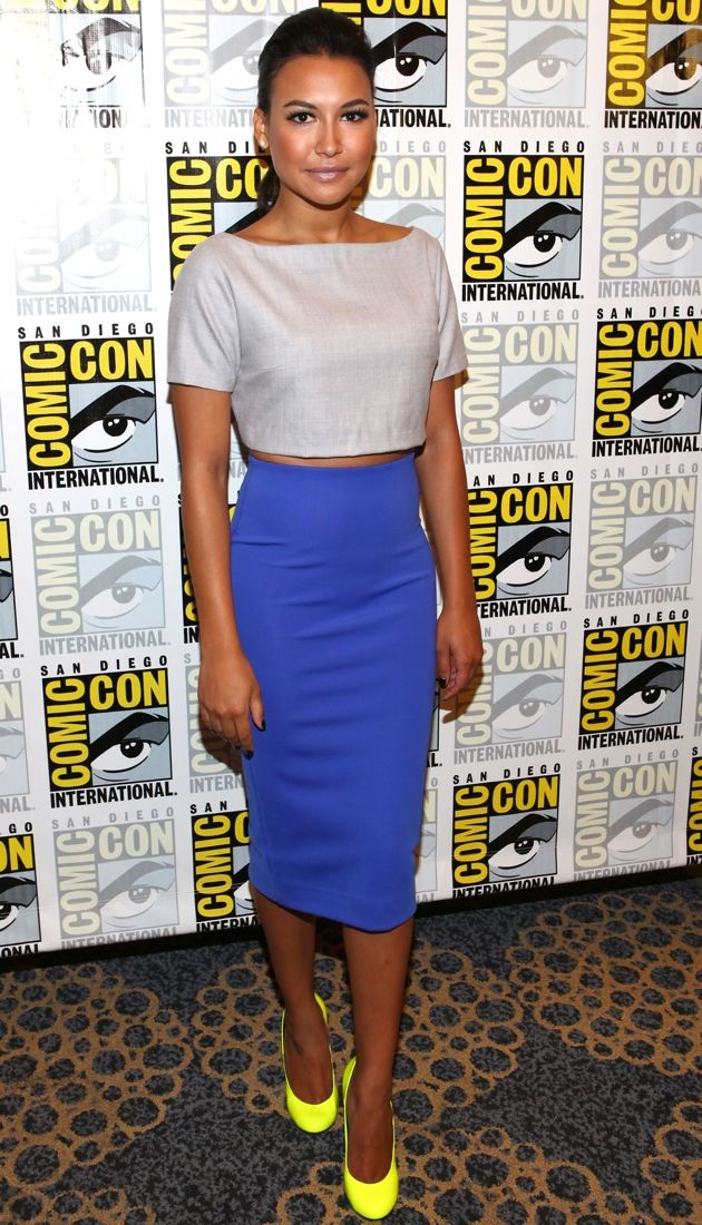 Look Of The Day Naya Rivera Highlights Her Bright Blue H