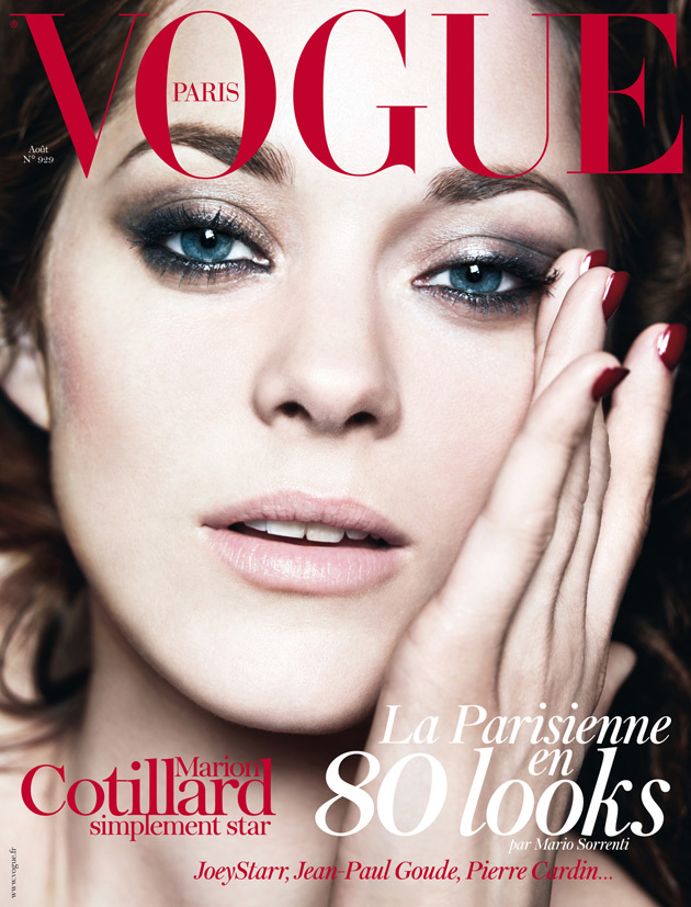 Vogue Paris August 2012 - Marion Cotillard by Mario Sorrenti