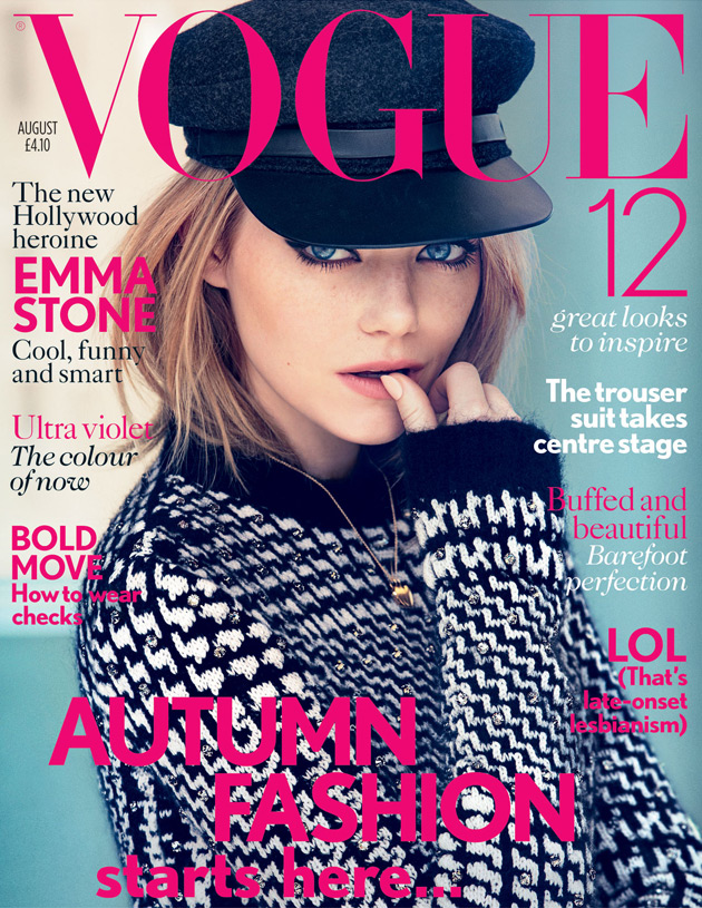 Vogue UK August 2012 - Emma Stone by Patrick Demarchelier