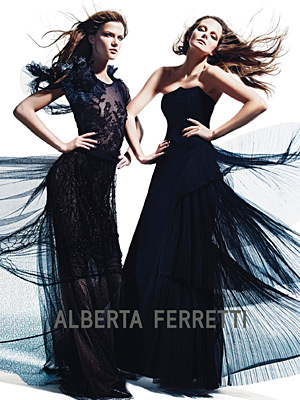 Alberta Ferretti Fall 2012 - Eniko Mihalik and Kasia Struss by Mario Sorrenti