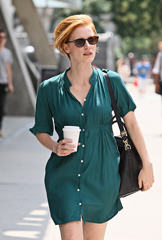 How Cool Is Jessica Chastain S Short Hair Forum Buzz Thefashionspot