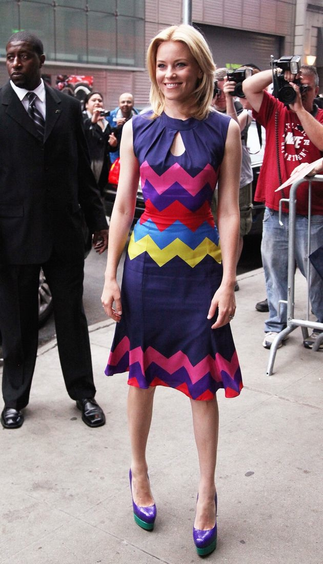 Elizabeth Banks outside ABC studios for Good Morning America New York City