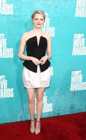 Emma Stone MTV Movie Awards Universal City June 2012