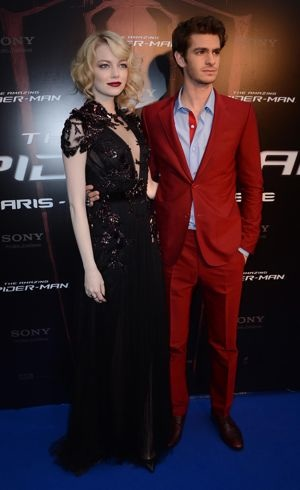 Emma Stone and Andrew Garfield French premiere of The Amazing Spider-Man Paris June 2012