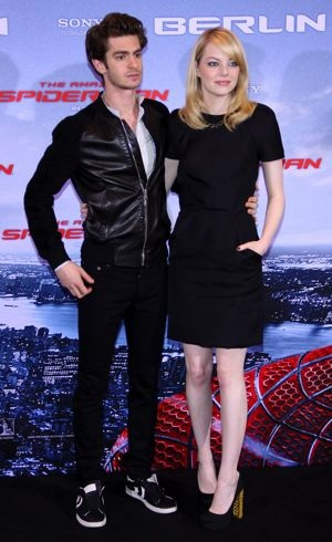 Emma Stone and Andrew Garfield photocall for The Amazing Spider-Man Berlin June 2012