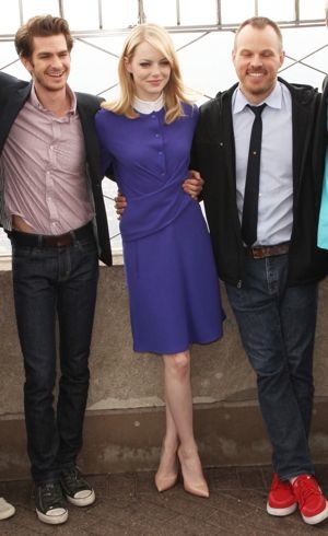 Emma Stone and the cast of The Amazing Spider-Man photocall The Empire State Building New York City June 2012