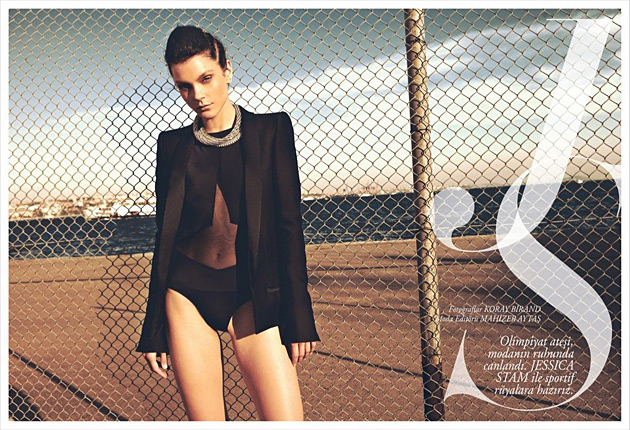 Harper's Bazaar July 2012 - Jessica Stam by Koray Birand
