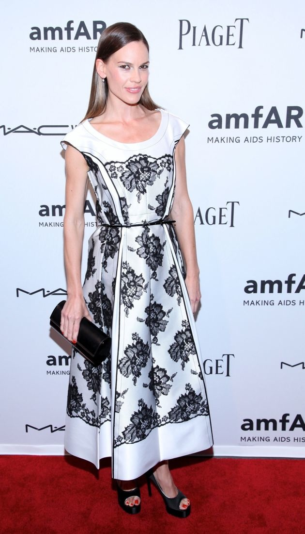 Hilary Swank 3rd Annual amfAR Inspiration Gala New York City