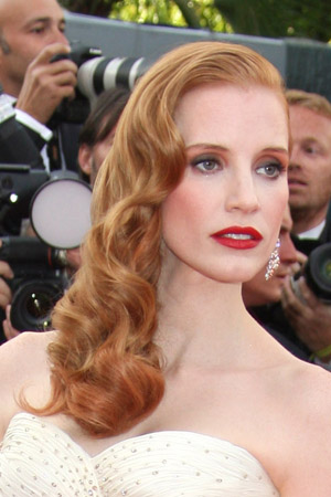 Jessica Chastain Old Hollywood waves