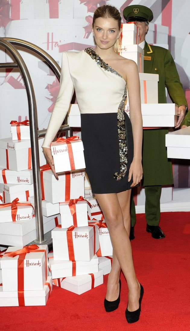 Lily Donaldson opens the Harrods Summer Sale London