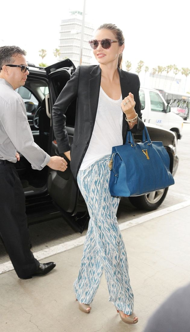 Miranda Kerr arrives at LAX airport to catch a flight Los Angeles